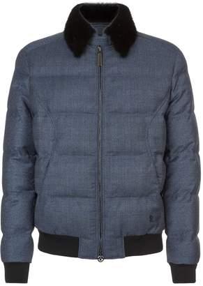 Stefano Ricci Mink Collar Padded Jacket