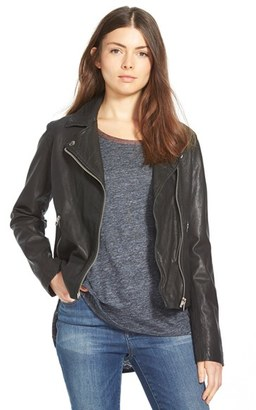 Women's Madewell Washed Leather Moto Jacket $498 thestylecure.com