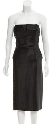 Gucci Strapless Satin Dress