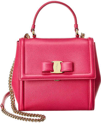 Salvatore Ferragamo Carrie Small Leather Satchel