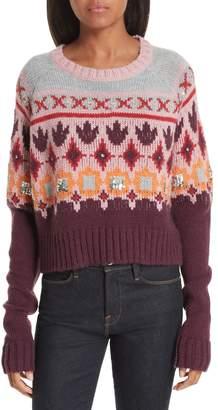 Cinq à Sept Gianni Fair Isle Sweater