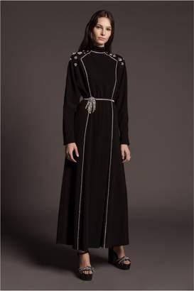 Sonia Rykiel Satin-Backed Crepe Maxi Dress