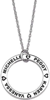 FINE JEWELRY Personalized Sterling Silver Family Name Disc Pendant Necklace