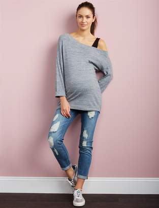 A Pea in the Pod Luxe Essentials Denim Secret Fit Belly Kate Girlfriend Maternity Jeans