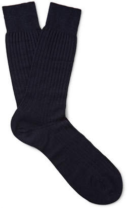 Pantherella Laburnum Ribbed Merino Wool-Blend Socks