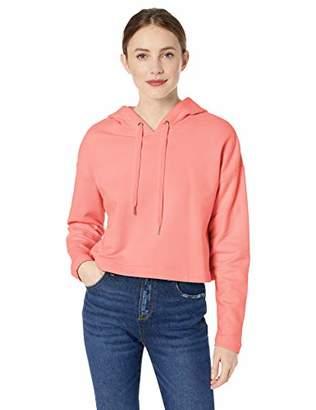 Ella Moss Women's Elise Crop Hooded Sweatshirt with Sharkbite Hem