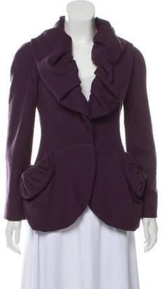 Reem Acra Shawl Collar Wool Jacket