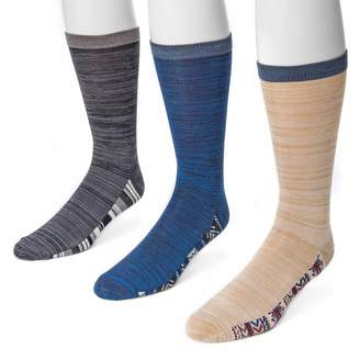 Muk Luks Men's 3-Pack Patterned Footbed Socks