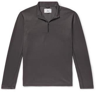 Reigning Champ Trail Slim-Fit Power Dry Tech-Pique Half-Zip T-Shirt - Men - Gray