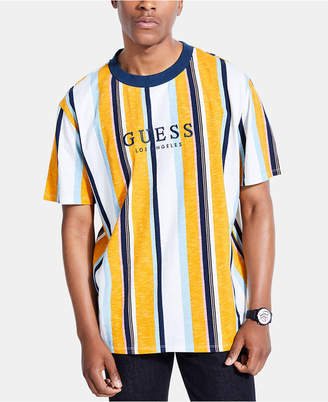 0b603d87d7 GUESS Originals Men Striped Logo T-Shirt