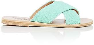 Ancient Greek Sandals Women's Thais Terry Slide Sandals - Turquoise