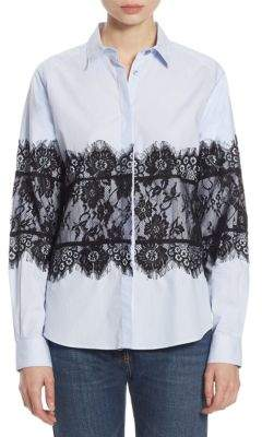 Each X Other Lace Cotton Oxford Shirt