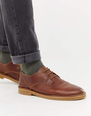 Office Inferno desert shoes in tan leather
