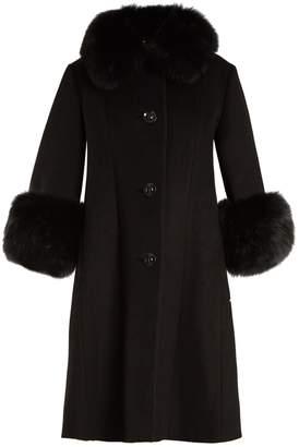 SAKS POTTS Yvonne fur-trimmed wool coat