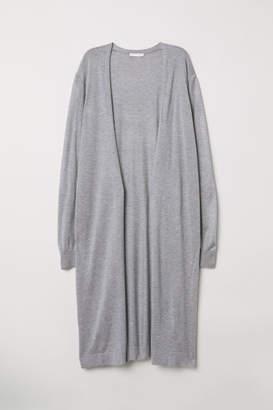H&M Knee-length Cardigan - Gray