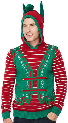 NOVELTY SEASON Novelty Season Hooded Neck Long Sleeve Pullover Sweater