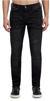 True Religion MENS MOTO ROCCO SKINNY JEAN W/ ZIPPER