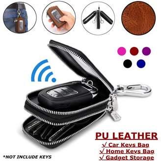 Kadell Double Layers Car Keys Bag Home Keys Holder PU Leather Storage Organizer Wallet Key Pouch