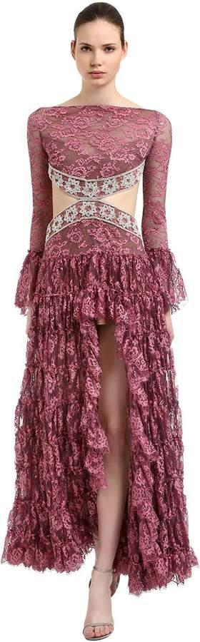 Kleid Aus Spitze Mit Rüschen