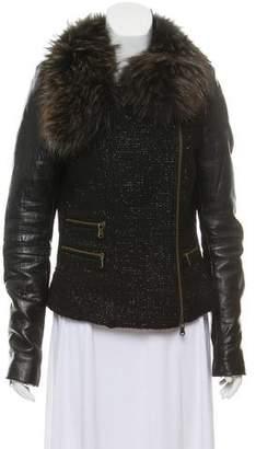 Rebecca Minkoff Fur-Trimmed Zip-Up Jacket