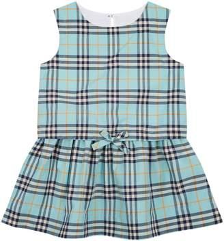 Burberry Gathered Check Print Dress