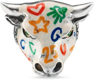 Anger Forest enameled bull's head ring $490 thestylecure.com