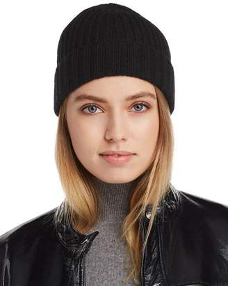 Bloomingdale's C by Chunky Rib-Knit Cashmere Beanie - 100% Exclusive