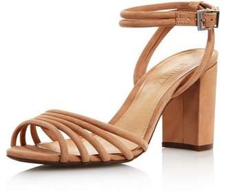 Schutz Women's Nicolai Nubuck Leather Block Heel Sandals
