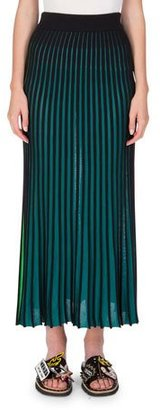 Kenzo Two-Tone Jersey Maxi Skirt, Midnight Blue $400 thestylecure.com