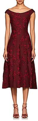 Zac Posen Women's Floral Jacquard Flared Dress