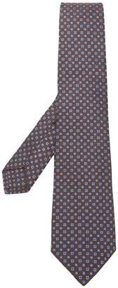 Kiton pattern embroidered tie