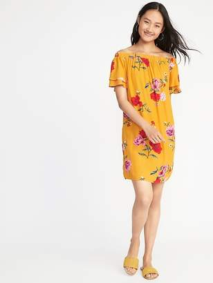 Old Navy Off-the-Shoulder Ruffle-Sleeve Shift Dress for Women
