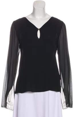 Akris Silk Long Sleeve Top