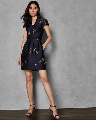 Ted Baker HARTTY Sugarplum jacquard dress