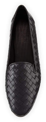 Sesto Meucci Nader Woven Leather Loafers, Black