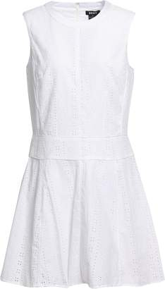 DKNY Broderie Anglaise Cotton Mini Dress