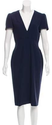 Alexander McQueen Satin Trim Midi Dress w/ Tags