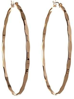 BCBGeneration BCBG Generation Textured Mega Hoop Earrings