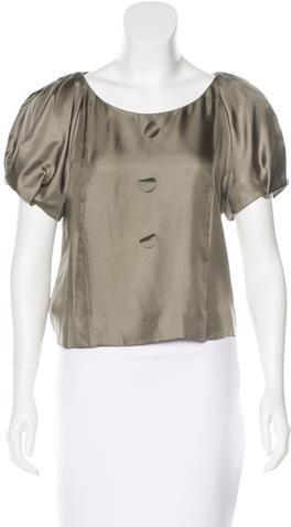 Chloé Chloé Silk Short Sleeve Blouse