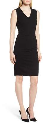 BOSS Erela Ruched Sheath Dress