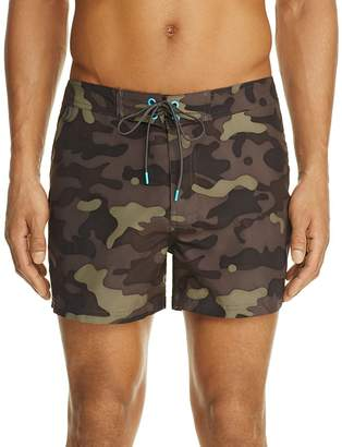 SUNDEK Camo Print Low-Rise Swim Shorts $109 thestylecure.com