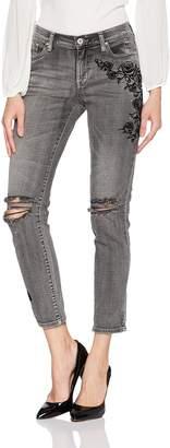 Jessica Simpson Women's Mika Best Friend Relaxed Fit Roll Cuff Jean