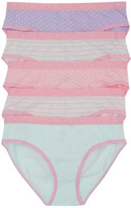 M&Co Teens' spot and stripe briefs five pack