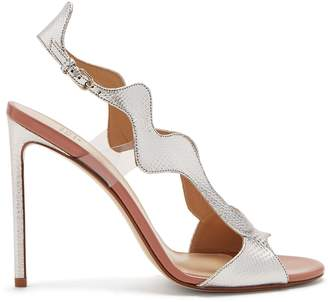 Francesco Russo Wavy slingback leather sandals