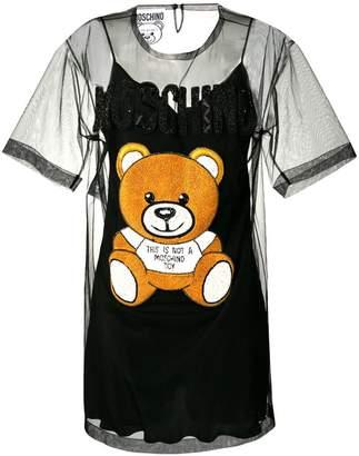 Moschino teddy bear tulle dress