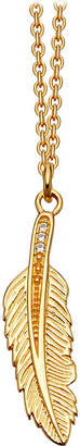 Astley Clarke Mini feather biography 18ct yellow gold-plated pendant