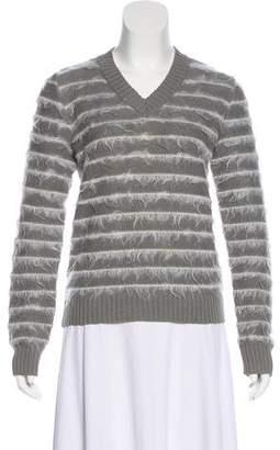 Maison Margiela V-Neck Striped Sweater