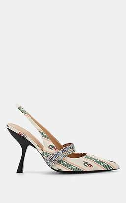Brock Collection Women's Striped Jacquard Slingback Pumps