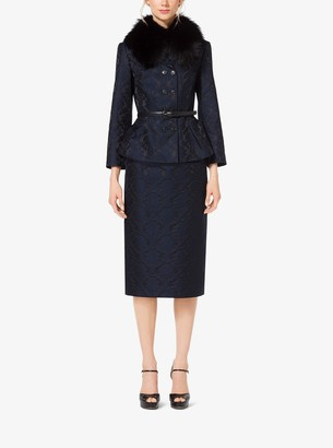 Michael Kors Damask Jacquard Sculpted Jacket
