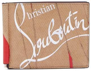 Christian Louboutin Kraft Kios Leather Wallet - Mens - Beige